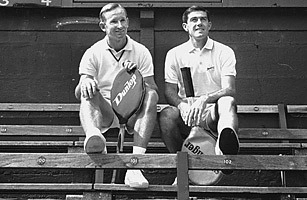 Laver and Rosewell Posing